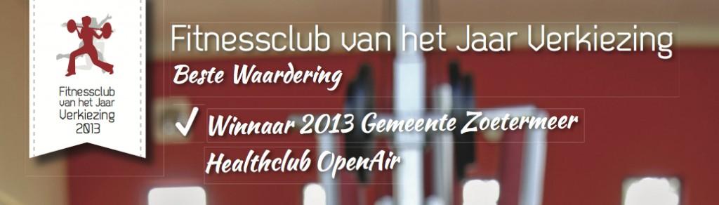Healthclub OpenAir - Fitnessclub van het jaar 2013